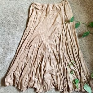 Dresses & Skirts - Suede Maxi Festival Skirt